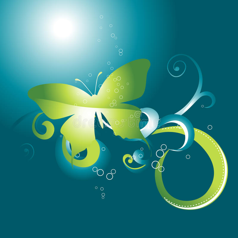 Download Beautiful  butterfly stock vector. Image of decoration - 14375909