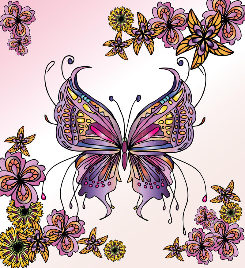 Beautiful butterfly image vector illustration