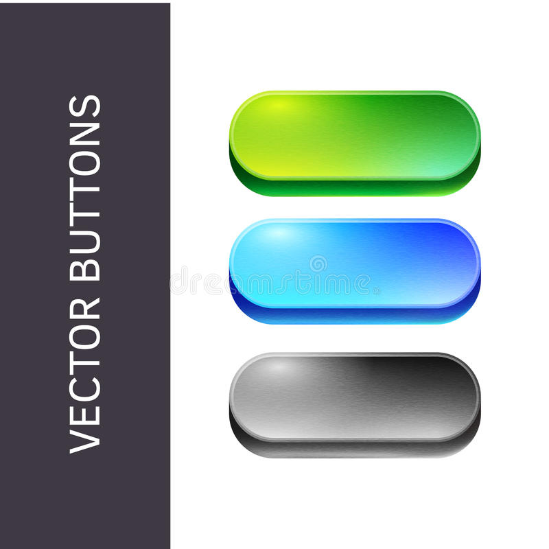 Beautiful Buttons For Websites And Applications. Stock ...