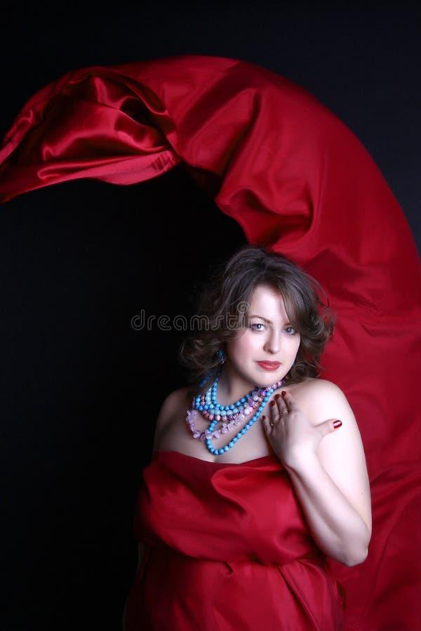 Beautiful buxom girl royalty free stock images