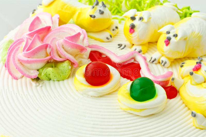 Download Beautiful cake decoration stock image. Image of topping - 17964117