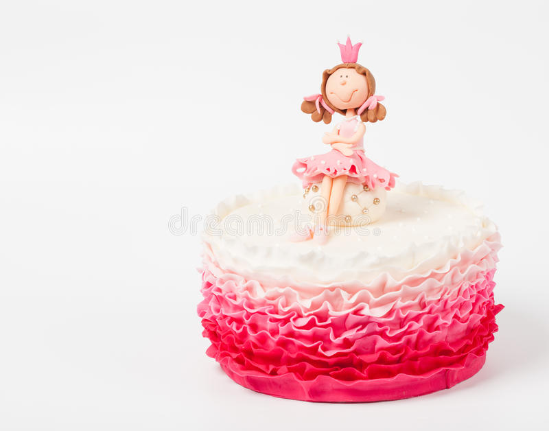Beautiful cake with princess top royalty free stock photos