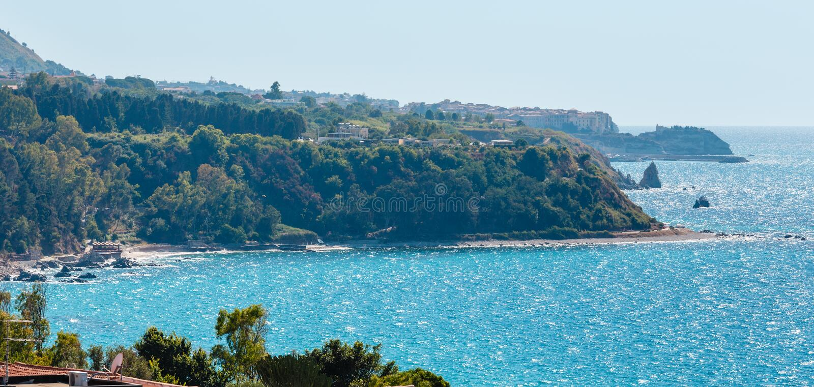 Tyrrhenian sea landscape, Calabria, Italy royalty free stock images