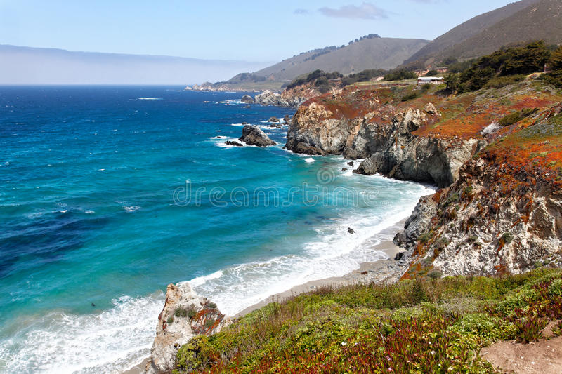 Beautiful California Coast. Beautiful view of the California Coast along the Big Sur region royalty free stock photography