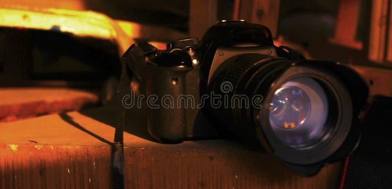 Camera in sunlight royalty free stock photos