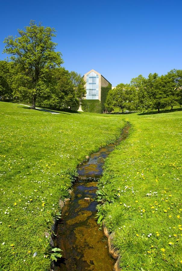 Beautiful campus park stock images