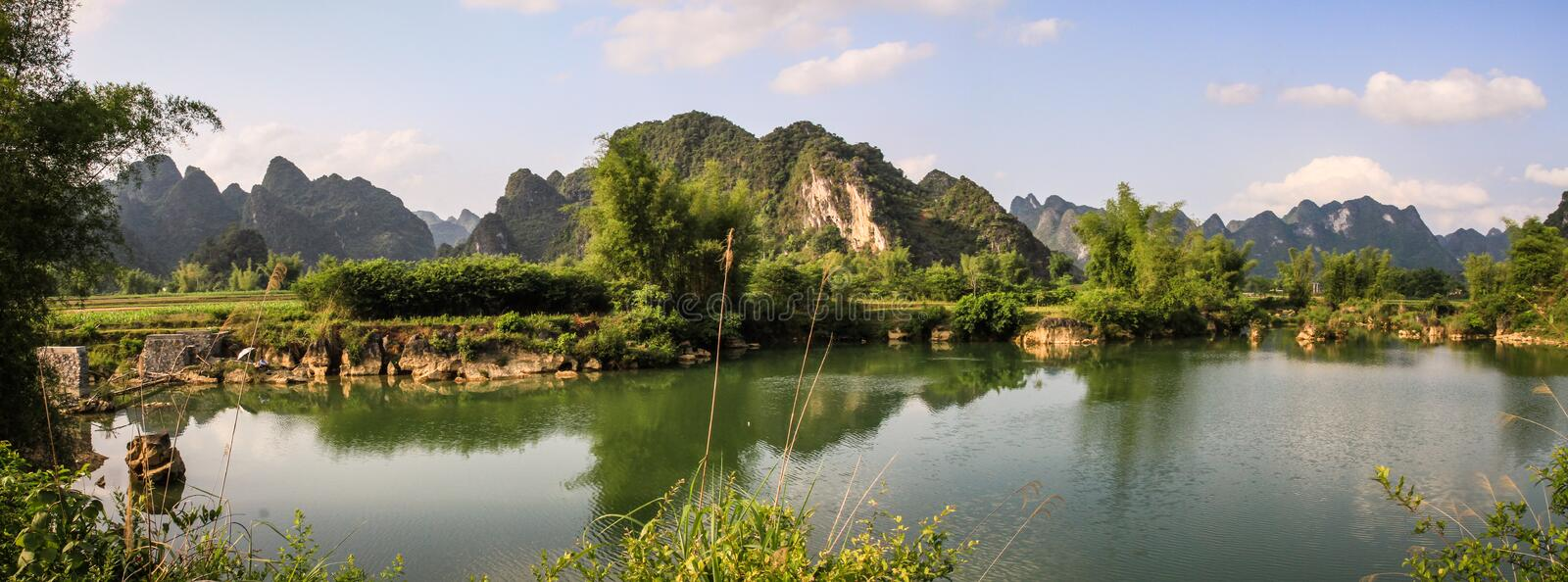 The beautiful cao bang province near the Ban Gioc Waterfall, cao bang province, vietnam stock images