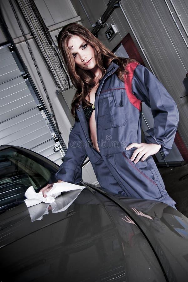 Beautiful Car Mechanic stock images