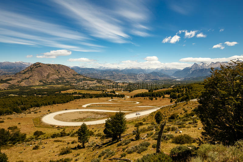 Beautiful Caracoles Road in Argentina royalty free stock images