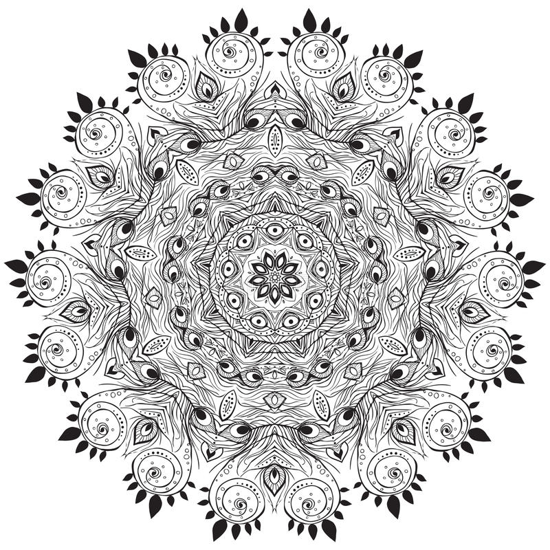 Beautiful card. Ornament black white card with mandala. Geometric circle element made in vector. Perfect cards for any other kind of design, birthday and other vector illustration