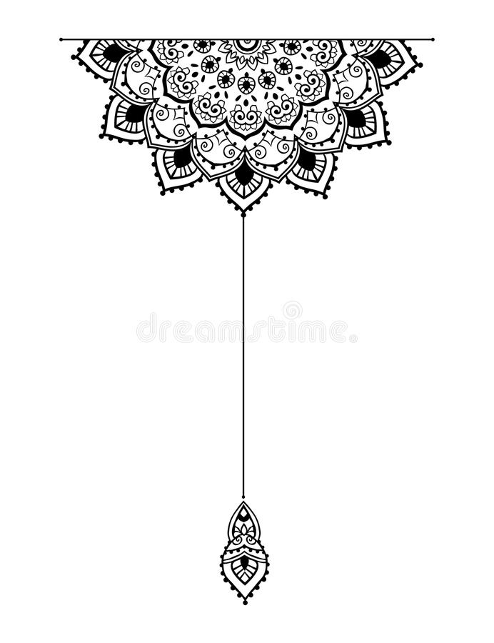 Beautiful card vector. Mandala set and other elements. Vector. Mandala tattoo. Perfect cards of design, birthday and other holiday, kaleidoscope, medallion, yoga vector illustration