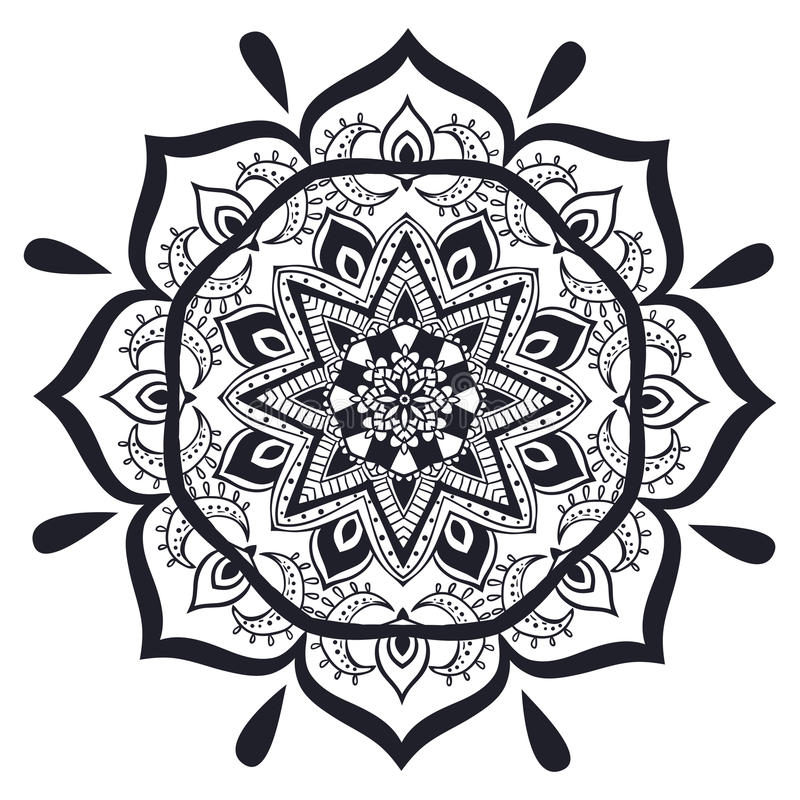 Beautiful card vector. Ornament invitation card with mandala. Geometric circle element made in vector. Mandala for decoration holiday cards, background and sites vector illustration