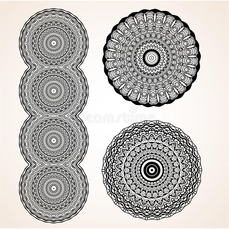 Beautiful card vector. Ornament beautiful card with mandala. Geometric circle element made in vector. Perfect cards for any other kind of design, birthday and vector illustration