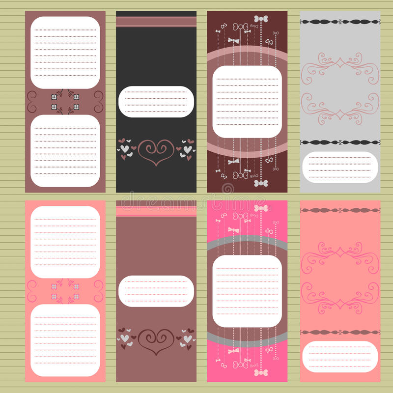 Download Beautiful cards set stock vector. Illustration of greeting - 24363140