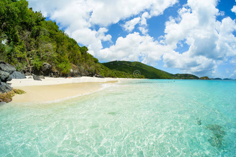 Beautiful Caribbean beach. Beautiful pristine Carribean beach in Saint John in the United States Virgin Islands royalty free stock photography