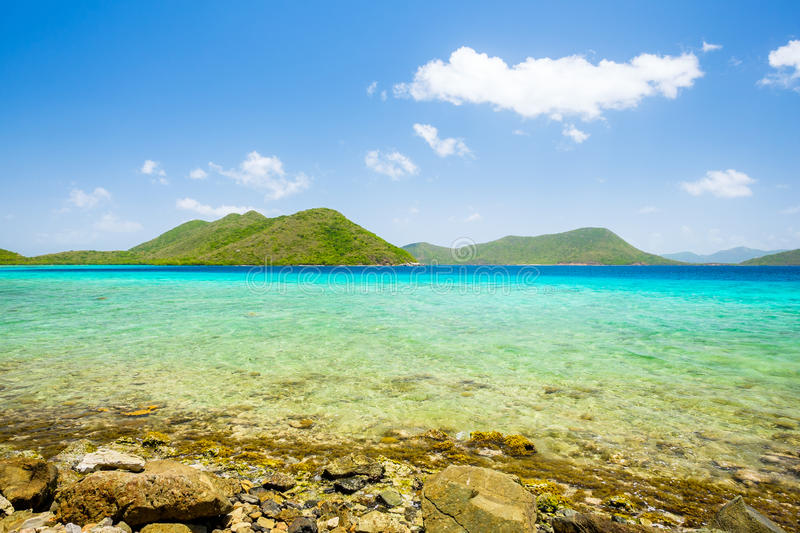 Beautiful Caribbean beach. Beautiful pristine Carribean beach in Saint John in the United States Virgin Islands stock photography