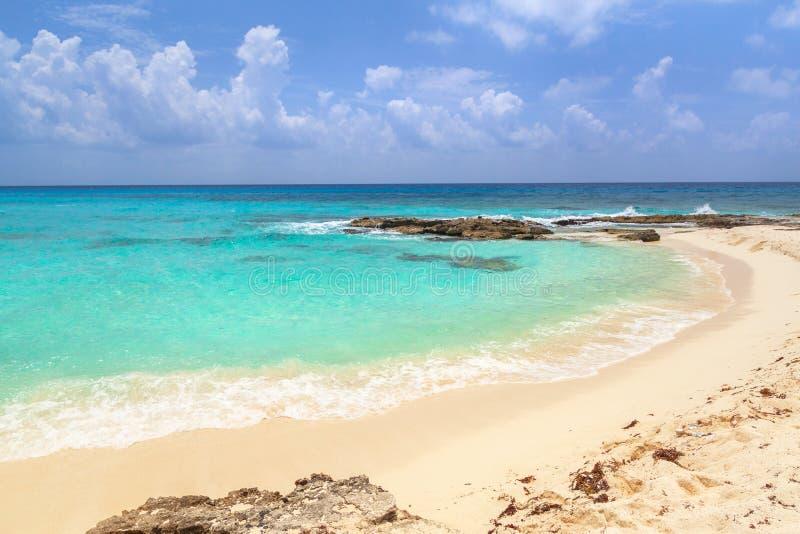 Beautiful Caribbean Sea beach in Playa del Carmen, Mexico royalty free stock photo