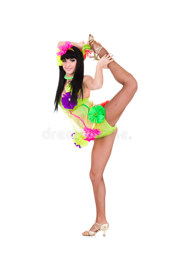 Download Beautiful Carnival Dancer Woman Doing Splits Stock Photo - Image: 29645934