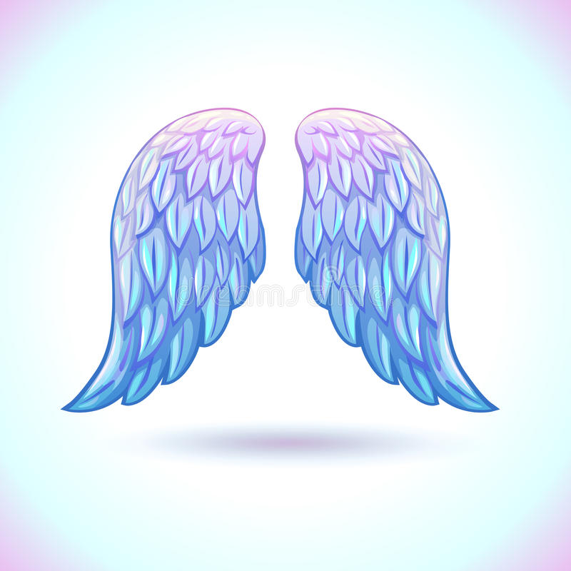 Beautiful cartoon angel wings vector illustration