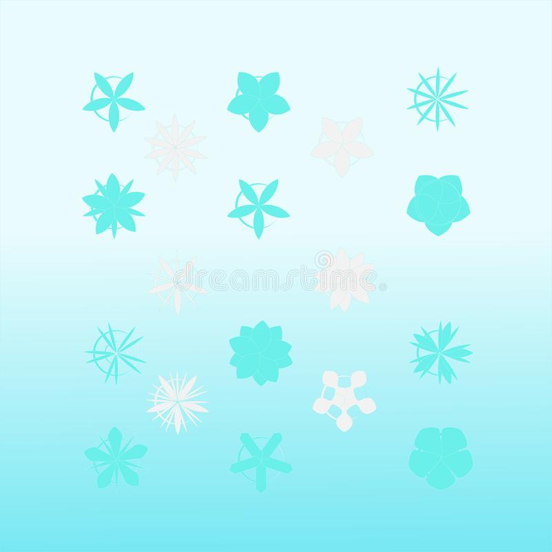 Great cartoon Set of stylized stars. Beautiful cartoon-shaped Set of stylized stars. Great cartoon Set of stylized stars image royalty free illustration