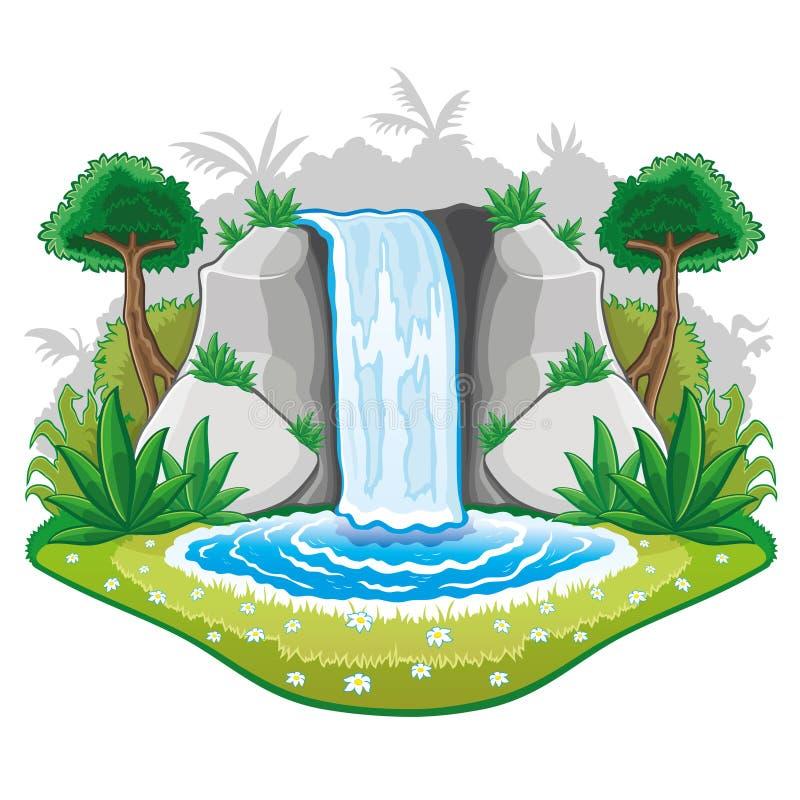 Download Beautiful Cartoon Waterwall. Stock Vector - Image: 32383969