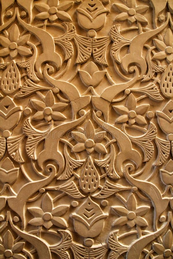 Beautiful carved stone texture royalty free stock photos