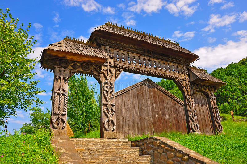 Wooden gate of time royalty free stock image