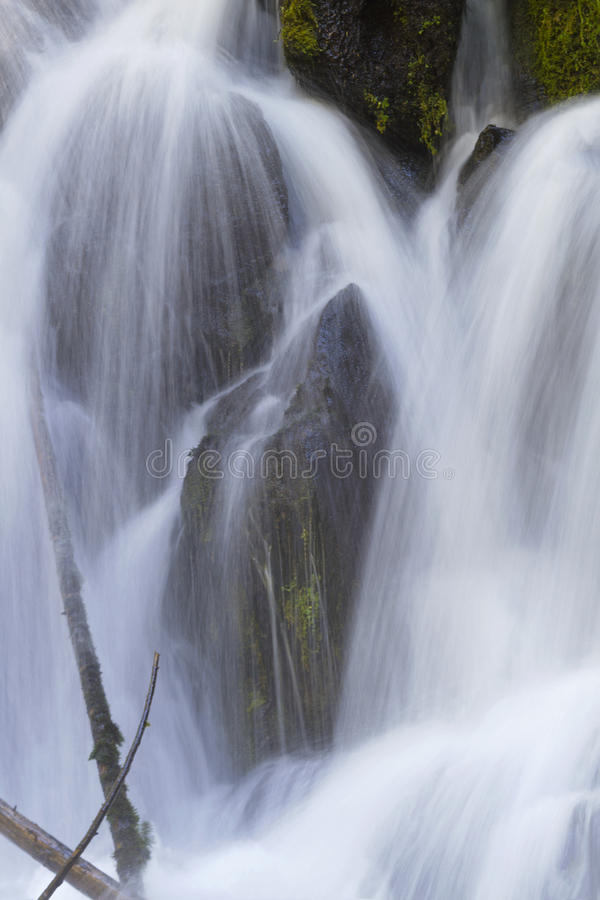 Beautiful cascades of Clearwater Falls in Oregon stock photo