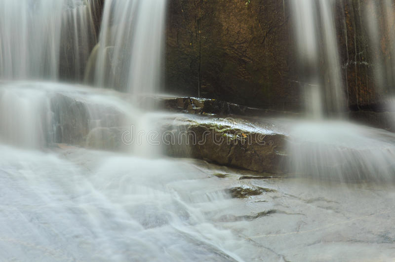 Download Beautiful Cascading Waterfall Over Natural Rock Stock Image - Image: 22082003