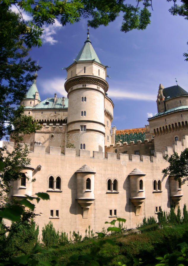 Beautiful Castle Bojnice royalty free stock images
