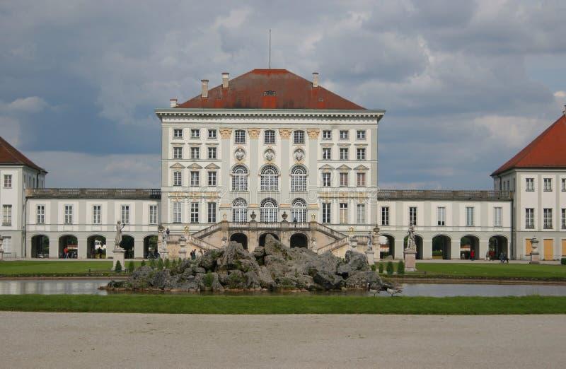 Beautiful castle nymphenburg stock photography