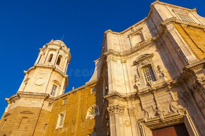 The Cathedral of the city of Cadiz, Andalusia, Spain stock photo