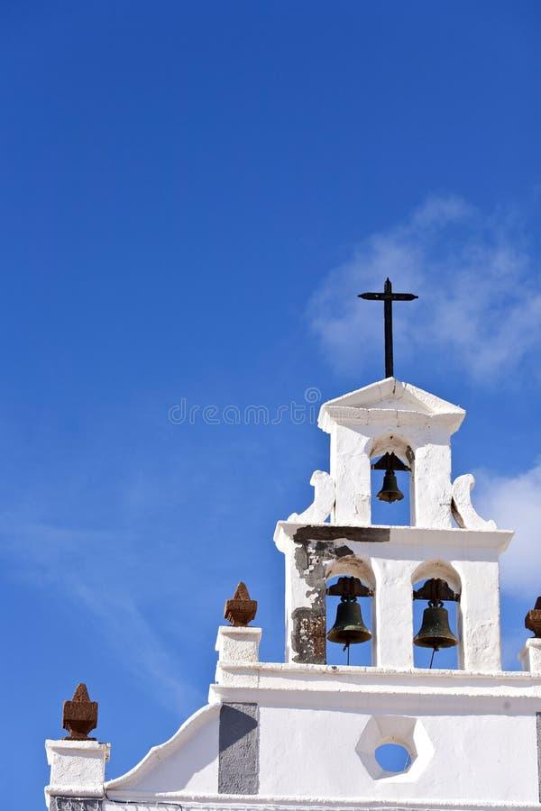 Beautiful catholic church Nuestra Señora de la Candelaria in Tias, Lanzarote. Spain stock image