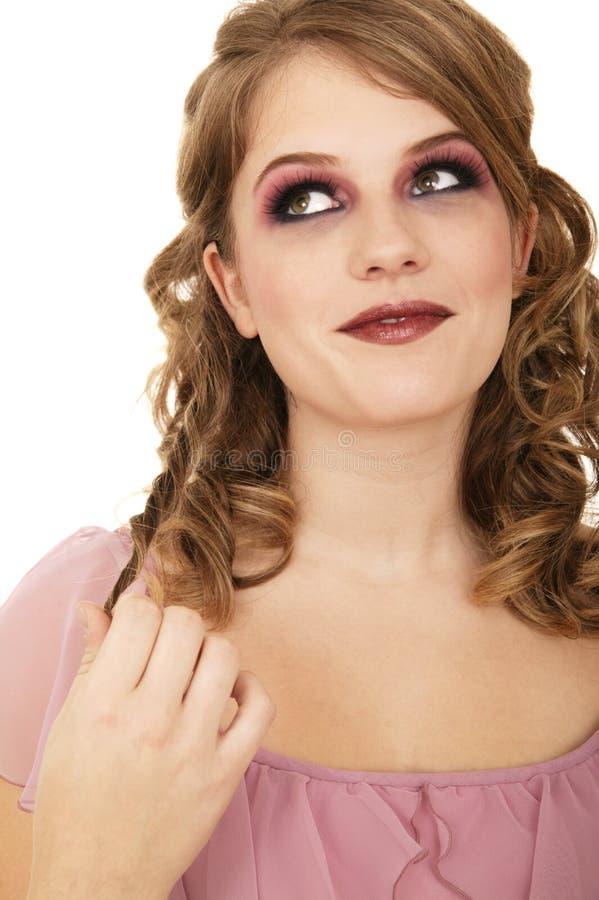 Download Beautiful Caucasian Touching Hair Stock Photo - Image: 4198336