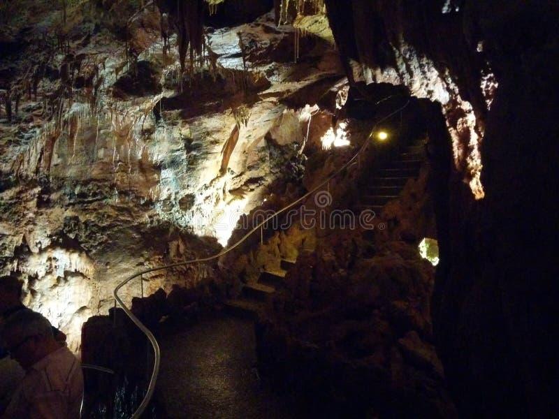 Beautiful cavern to discover stock photos