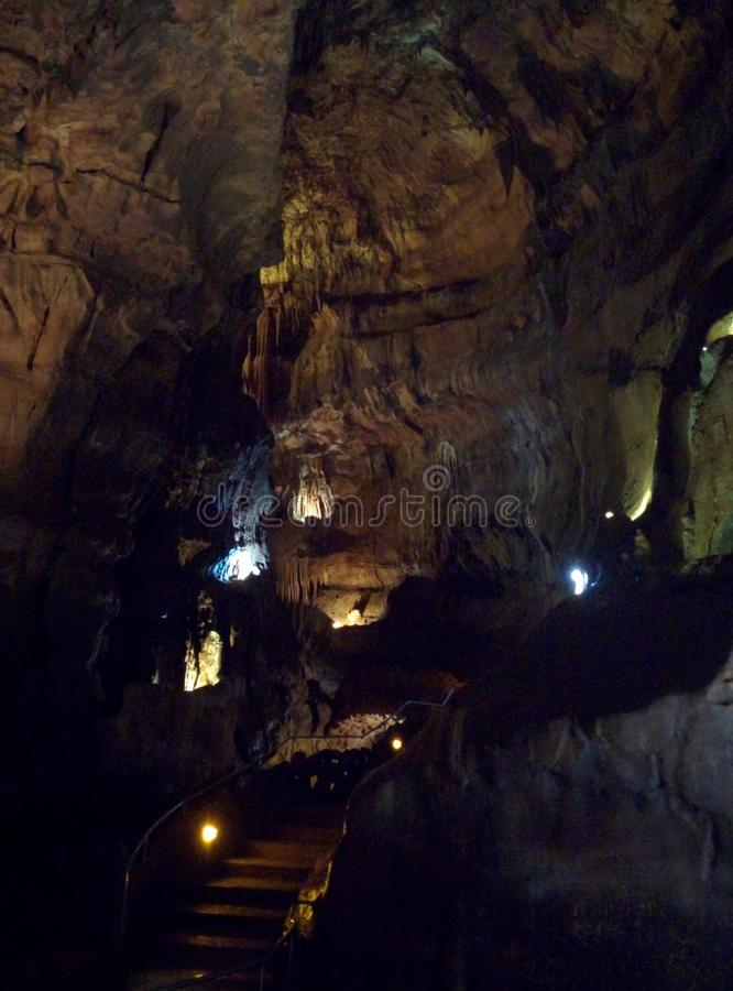 Beautiful cavern to discover stock images