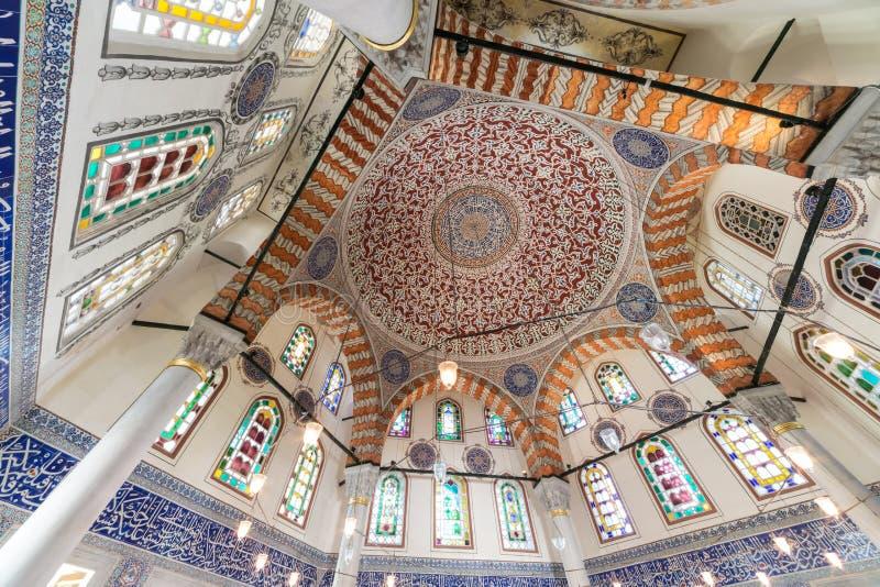 Beautiful ceiling of Mehmed III mausoleum royalty free stock photo