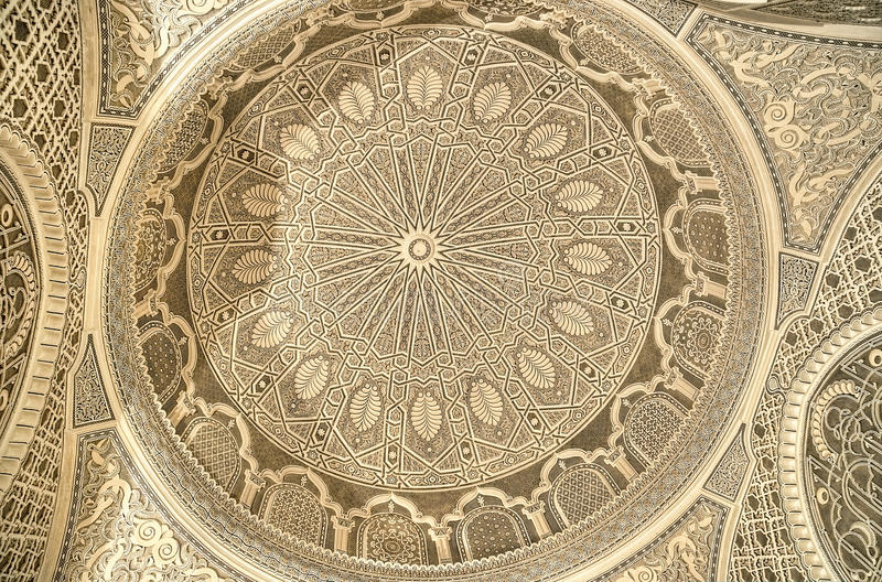Beautiful Ceiling Of The Mosque In Kairouan Royalty Free Stock Photography