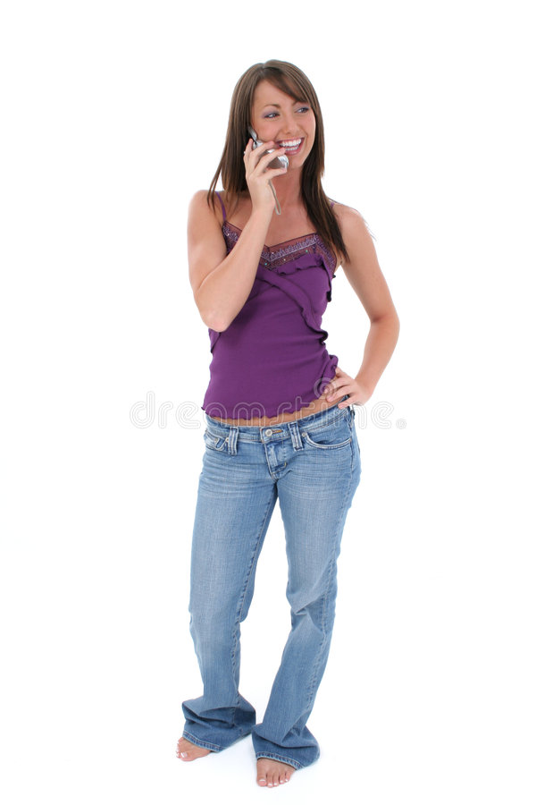 beautiful cellphone speaking woman young στοκ φωτογραφίες με δικαίωμα ελεύθερης χρήσης