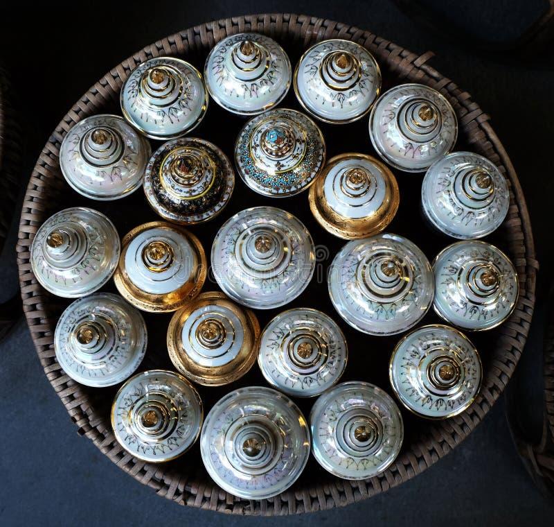 Beautiful ceramic cup royalty free stock photo