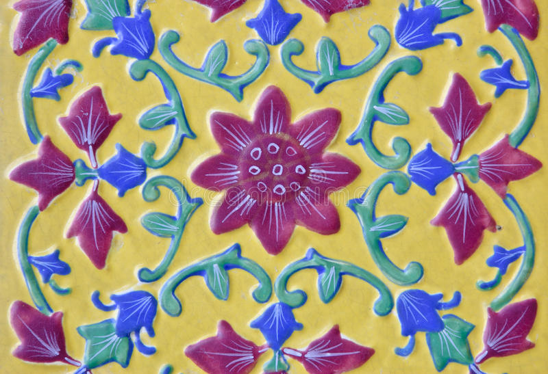 Download Beautiful Ceramic In Thai Floral Style Stock Photo - Image: 22624940