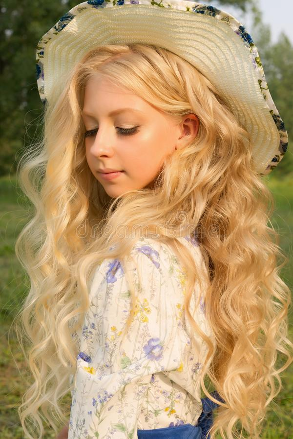 Teenagers: Portrait Of Beautiful Young Girl - Blonde On White - Stock Photo I2735491 at FeaturePics