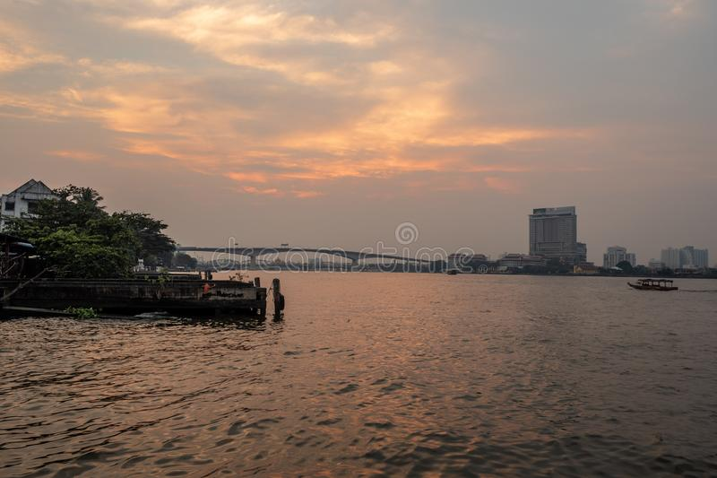 Beautiful and charming river views royalty free stock photography