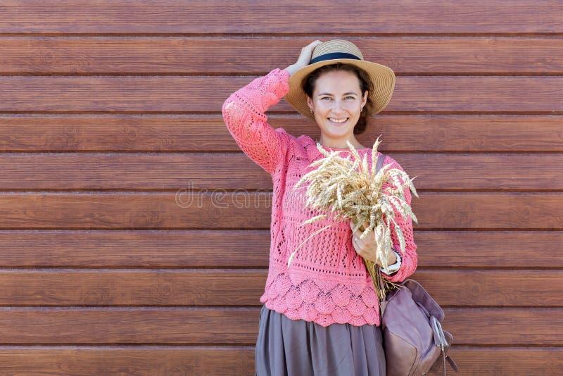 beautiful cheerful woman royalty free stock photo