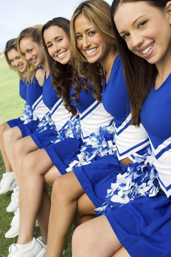 Beautiful Cheerleaders Smiling royalty free stock images