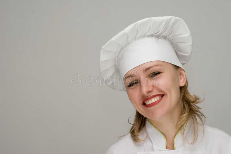 Download Beautiful Chef Showing On A Light Background Stock Image - Image of food, occupation: 4788737