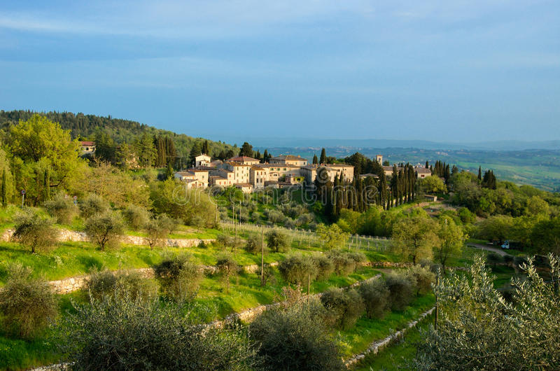 Beautiful Chianti landscape, Tuscany. Italy stock photography