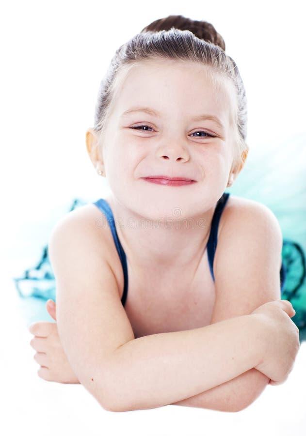 Beautiful child dancer studio portrait stock image