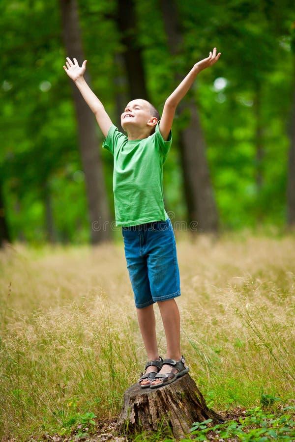 Beautiful child outdoor royalty free stock photos