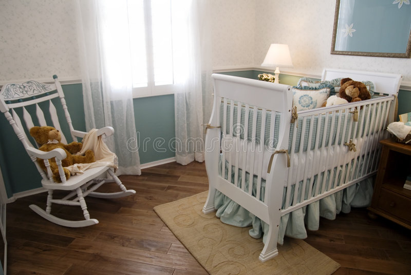 Beautiful Childs Room stock image